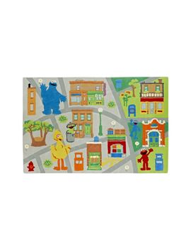 Sesame Street Neighborhood 4 X 6' Rug by Crate&Barrel