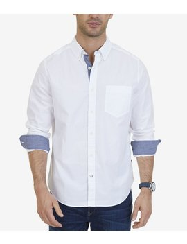 Classic Fit Stretch Cotton Long Sleeve Shirt by Nautica