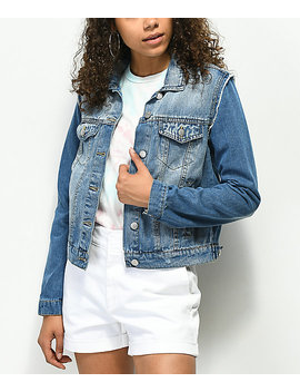 Almost Famous Pieced Denim Jacket by Almost Famous