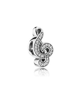 Sweet Music Treble Clef, Clear Cz by Pandora