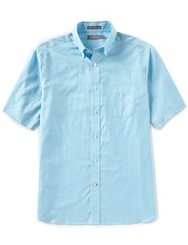 Daniel Cremieux Signature Stripe Oxford Short Sleeve Woven Shirt by Cremieux