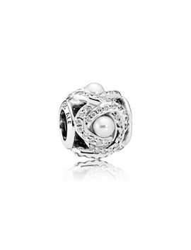Luminous Love Knot, White Crystal Pearl & Clear Cz by Pandora