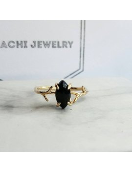 Black Onyx Claw Ring   Black Onyx Diamond Thorn Ring Gold   Jewellery Gift For Her by Etsy