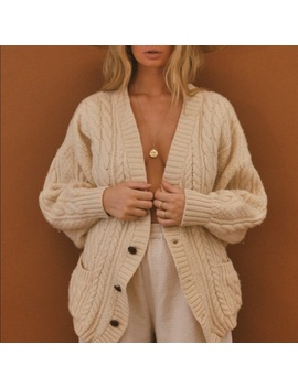 ▪️white Fisherman's Sweater▪️vintage Chunky Knit by Vintage