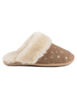 Duchess Star Print Mule by Just Sheepskin