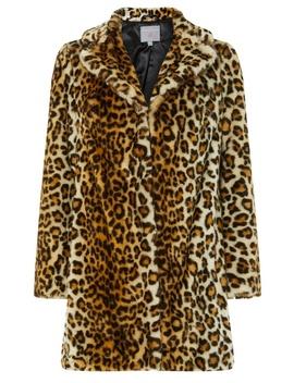 Petite Multi Coloured Animal Print Faux Fur Coat by Dorothy Perkins