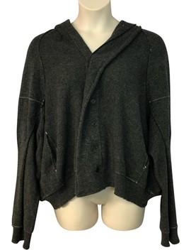 Y's Dark Wool Knit Gray Sweater by Yohji Yamamoto