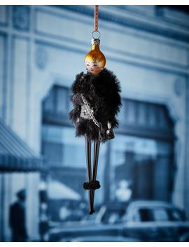 Rose In Faux Fur Jacket Ornament by Neiman Marcus