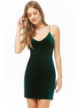 Velvet Cami Bodycon Dress by Forever 21