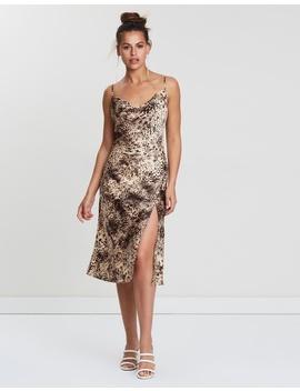 Power To Her Silky Slip Dress by Dazie