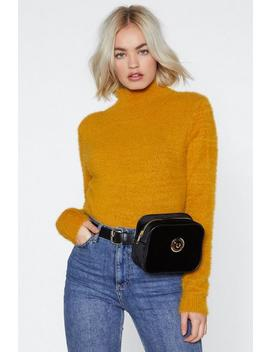 Lose Touch Velvet Fanny Pack by Nasty Gal