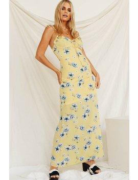 Dream Block Tie Maxi Dress // Yellow by Vergegirl