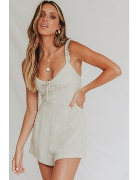 New Wave Frill Playsuit // Natural by Vergegirl
