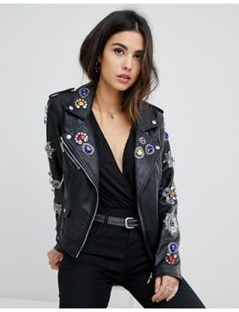 Blank Nyc Embellished Biker Jacket by Blank Nyc