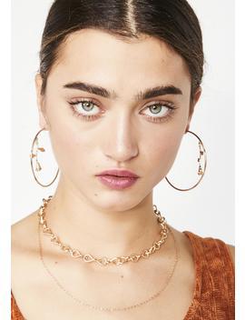 Thorny Rose Hoop Earrings by Ana Accessories