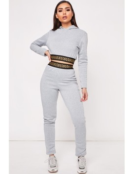 Lisa Grey Aztec Band Loungewear Set by Misspap