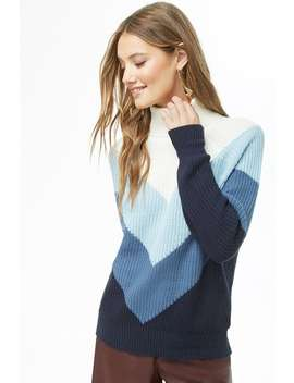 Colorblocked Chevron Sweater by Forever 21