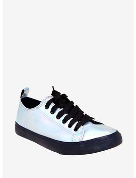 Light Hologram Lace Up Sneakers by Hot Topic