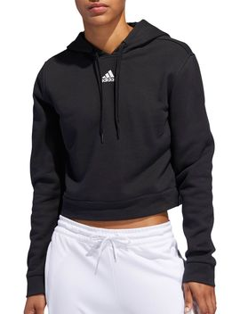 Adidas Women's 3 Stripes Cropped Hoodie by Adidas