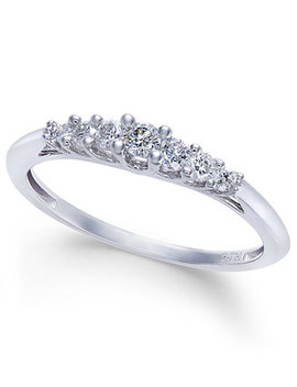 Diamond Seven Stone Graduated Band (1/4 Ct. T.W.) In 14k White Gold by Macy's