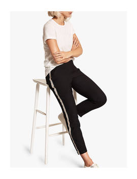 Mint Velvet Black Side Joggers, Black by Mint Velvet