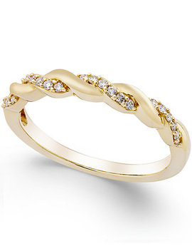 Diamond Twisted Band (1/8 Ct. T.W.) In 14 K Yellow, White Or Rose Gold by Macy's