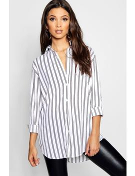 Stripe Oversized Shirt by Boohoo