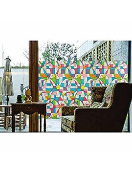 Abo Gear Aojia 2 Pack No Glue 3 D Static Decorative Privacy Window Film, ((35.4'x78.7'(90x200cm)) Aw1007 2.2 P by Abo Gear