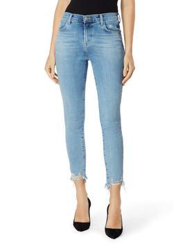Alana Ripped Hem High Waist Ankle Skinny Jeans by J Brand