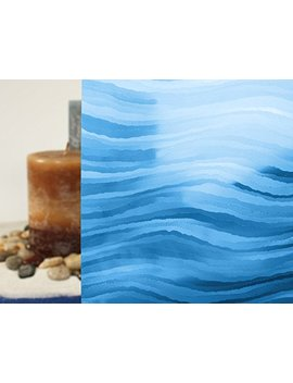 """Sedimentary Colored, Decorative, Privacy Static Cling Window Film (35"""" X 15ft, Blue) by Window Film And More"""