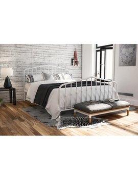 Novogratz Bushwick Metal Bed In White, Queen Size by Novogratz