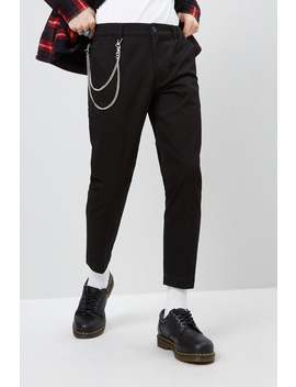 Chain Accent Slim Fit Trousers by Forever 21