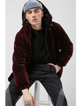 Hooded Velvet Jacket by Forever 21