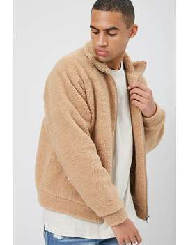 Zip Up Faux Shearling Jacket by Forever 21
