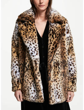 Somerset By Alice Temperley Leopard Faux Fur Coat, Multi by Somerset By Alice Temperley