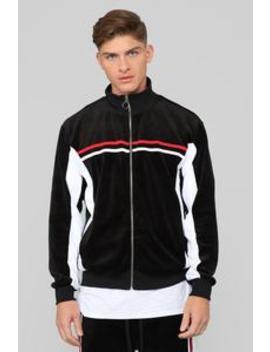 No Option Velour Jacket   Black/Multi by Fashion Nova