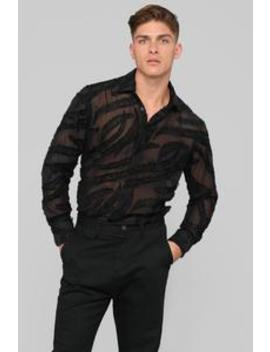 Jabari Long Sleeve Woven Top   Black by Fashion Nova