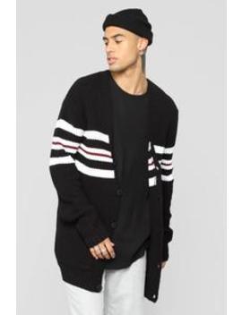 Montel Knitted Cardigan   Black/Multi by Fashion Nova