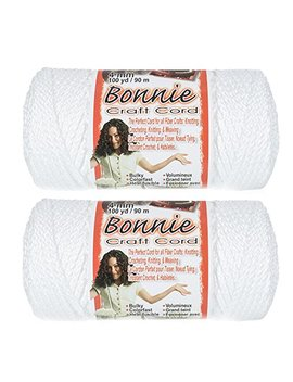2 Pack Bonnie Macramé Cord   4mm   100 Yd Lengths   Various Colors by Craft County