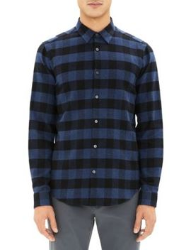 Irving Check Flannel Shirt by Theory