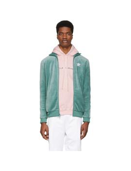 Green Cozy Track Jacket by Adidas Originals