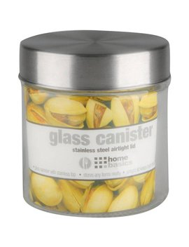 Home Basics Glass Round Canister With Steel Lid by Canning & Preserving