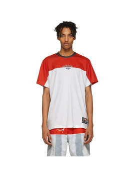 Red & Grey Photocopy T Shirt by Adidas Originals By Alexander Wang