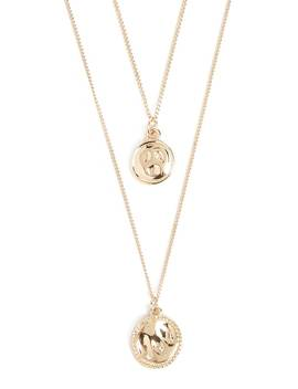 Hammered Disc Pendant Necklace Set by Forever 21
