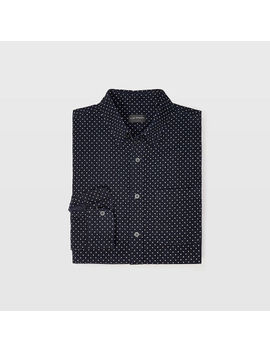 Slim Corduroy Dot Shirt by Club Monaco