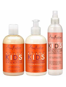 Shea Moisture Kids Hair Care Combination Pack – Includes Mango & Carrot 8oz Kids Extra Nourishing Shampoo,... by Shea Moisture