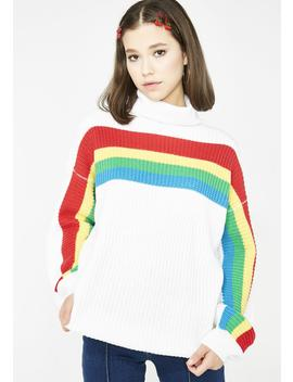 Rainbow Connect Turtleneck Sweater by Love Harmony