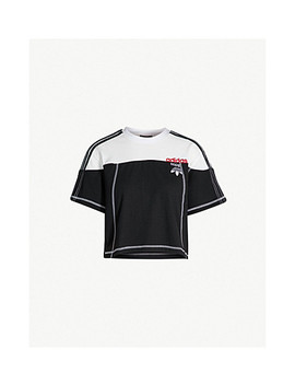 Disjoin Cotton Jersey Crop Top by Adidas X Alexander Wang