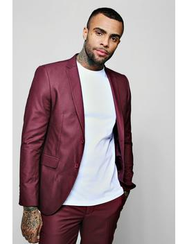 Plain Skinny Fit Suit Jacket by Boohoo