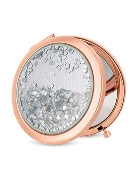 Mood   Rose Gold Crystal Shaker Compact Mirror by Mood
